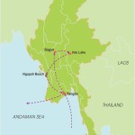 Myanmar Honeymoon Vacation – 10 Days map