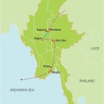 Myanmar Through The Lens – 12 Days map