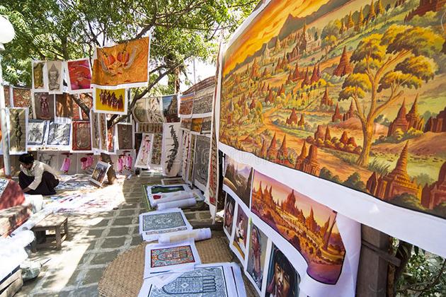 Myanmar sand paintings