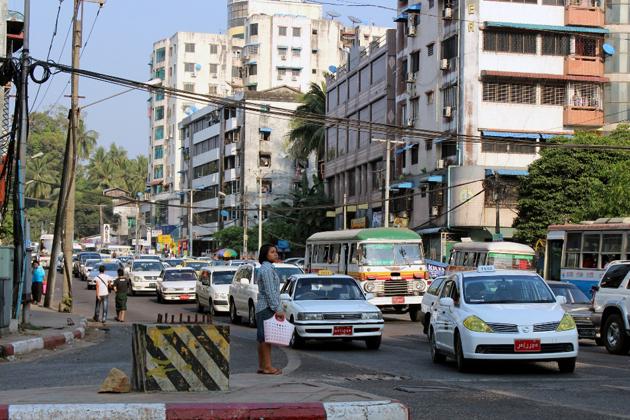 Myanmar typical traffic system