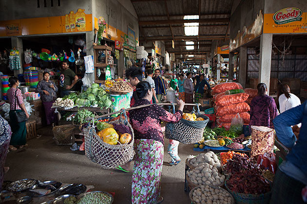 Myitkyina Produce market