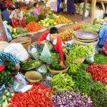 Nyaung U Market in Old Bagan, Myanmar.
