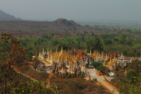Panorama of Phaungdawoo Pagoda.
