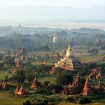 Panorama of ShweSandaw Pagoda in Bagan, Myanmar.