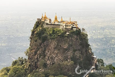 Panoramic view of Mount Popa