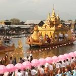 Phaungdaw-oo festival in Inle Lake.