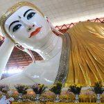 Reclining Buddha in Kyaukhtatgyi Pagoda.