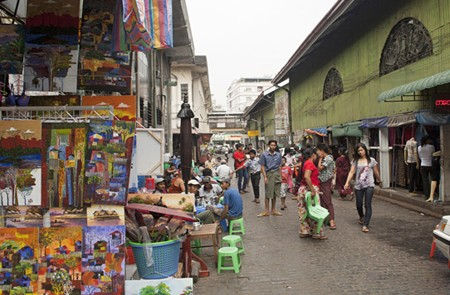 Scott Market in Myanmar.