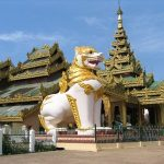 Shwemawdaw Pagoda in Bago, Myanmar.