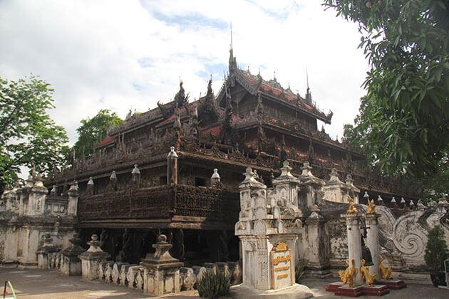 Shwenandaw monastery - highlight of mandalay