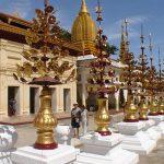 Shwezigon pagoda in Bagan, Myanmar.