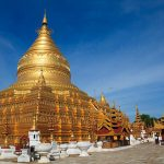 Shwezigon Pagoda - one of the most famous temples in bagan