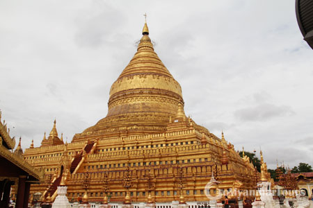 The golden spire of Shwezigon Pagoda