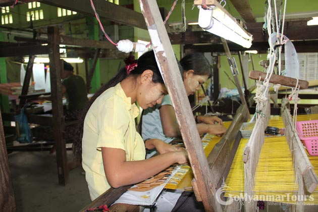 Silk Workshop near Mandalay