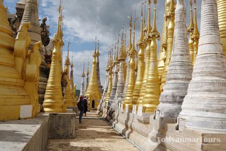 Stupas in Inn Thein Pagoda