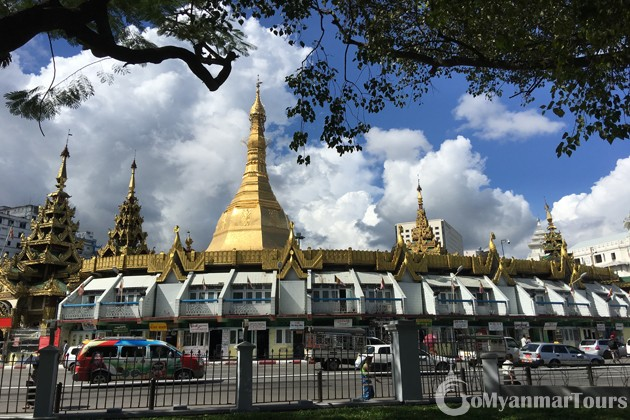 Myanmar Itinerary 4 days with a visit to Sule Pagoda in Yangon