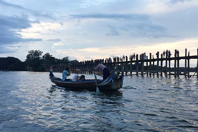 Sunset in U Bein Bridge Mandalay