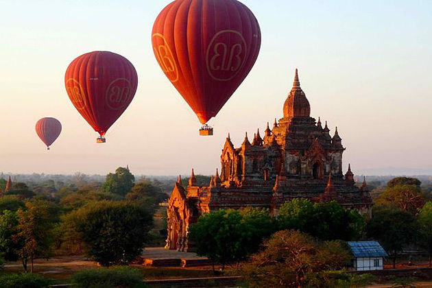 Take a Balloon ride in Burma Honeymoon holiday is a fantastic way to marvel at the allure beauty