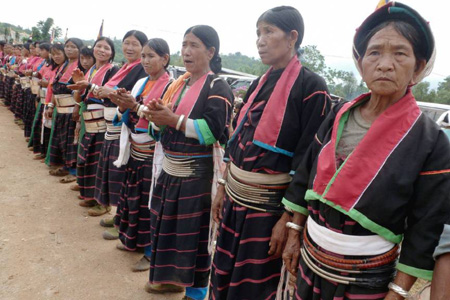 The Wa ethnic group in Myanmar