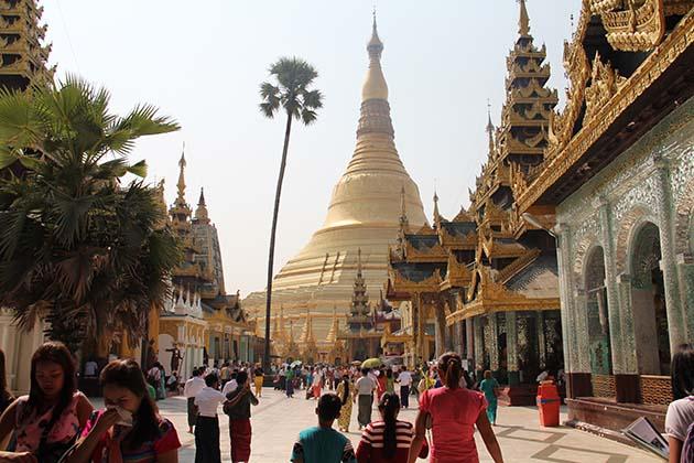 The iconic Shwedagon Pagoda in Yangon