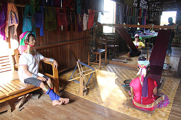 The long neck women in Inle Lake