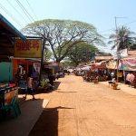 The main street in Kinpun, Myanmar.