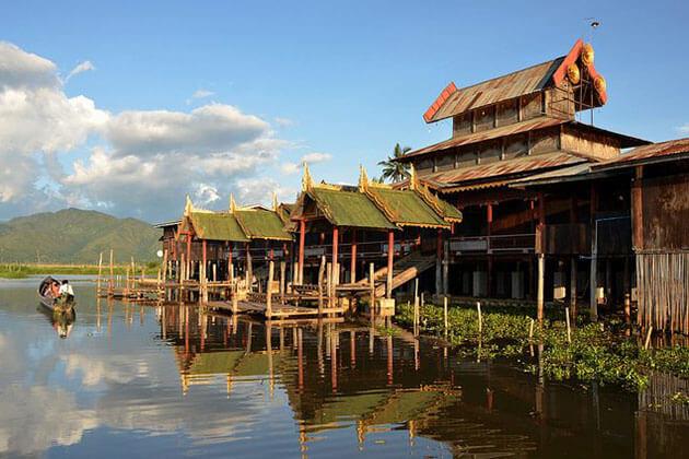 The wooden Nga Phe Chaung Monastery