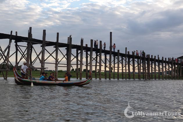 Visit U Bein bridge in Myanmar itinerary 10 days