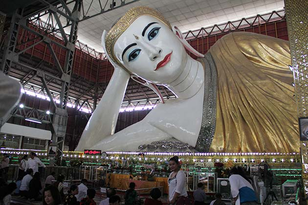 Yangon city tour half day with a visit to the Chauk Htat Gyi Pagoda