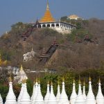 Zigzaging road to Mandalay Hill Myanmar