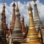ancient stupas in shweindein temple