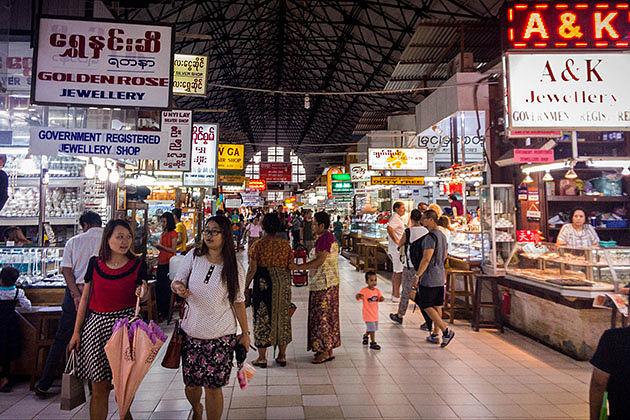 bogyoke Market in Yangon