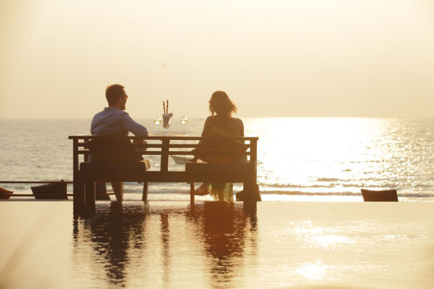 enjoy the sunset on the seashore of ngapali beach with your beloved