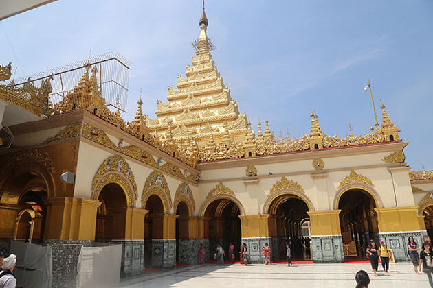 mahamuni pagoda - one of the most famous attractions in mandalay