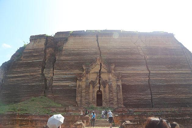 mingun paya - one of the main attractions in mandalay