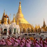 morning ritual at Shwedagon pagoda