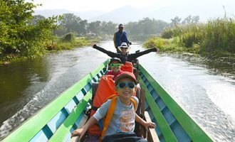 myanmar family trip with nature and culture