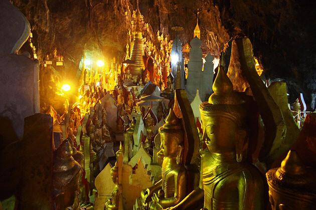 pindaya cave buddha images