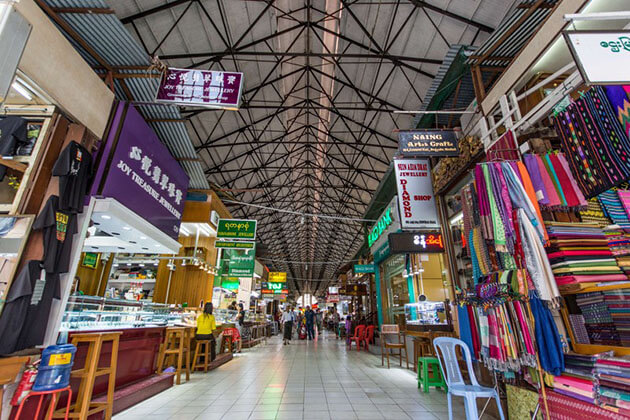 scott market in yangon is one of the main tourist attractions in Myanmar