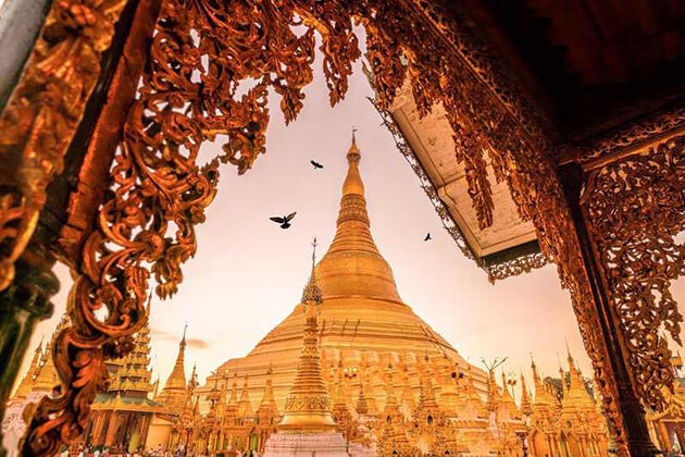 shwedagon pagoda place to visit in myanmar tour packages