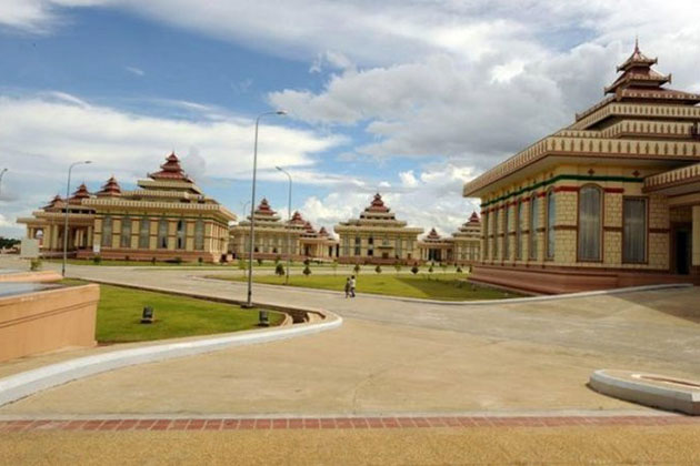 the Hlutaw-paliament complex in Nay Pyi Taw