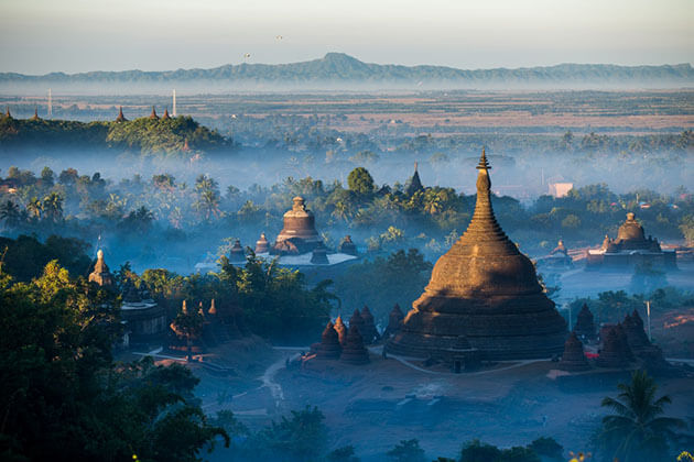 the ancient city of Mrauk U