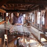the local artisan in weaving workshop