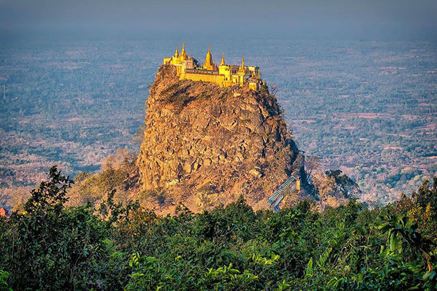 the taung kalat on the top of mount popa
