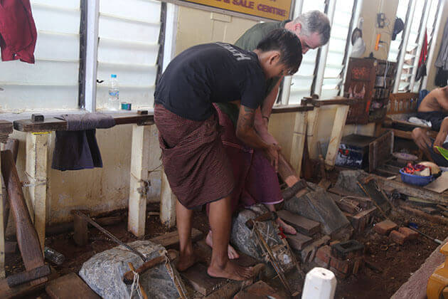 visit gold leaf making workshop is a great experience to try in mandalay