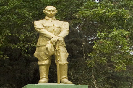 A statue of General Aung San, Myanmar.
