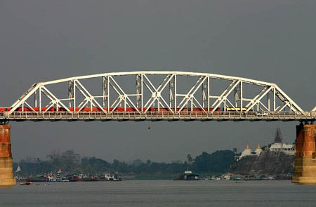 Ava Bridge Over Ayeyarwady Sagaing Myanmar.