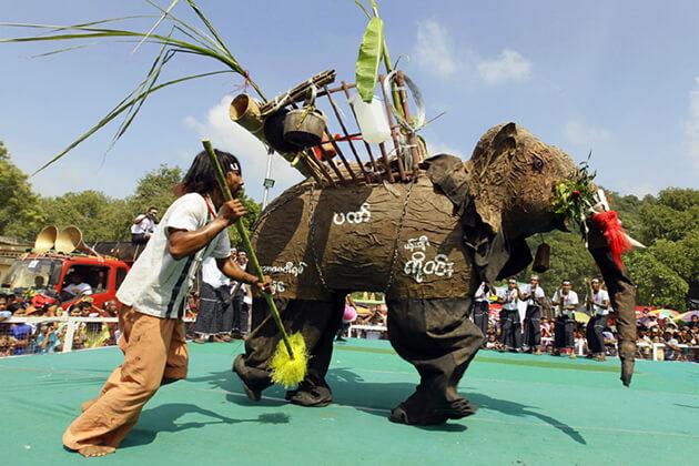 Elephant Dance Festival in Kyaukse Myanmar
