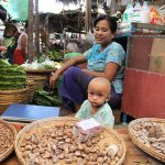 Local selling products in Nyaung u Market