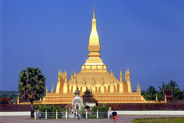 Pha that luong in Laos